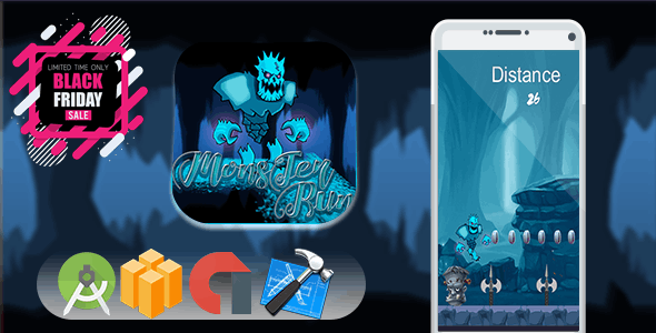 Monster Run - Game 2018 - Ready to publish- ADMOB INTEGRATED