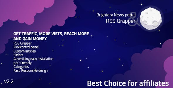 Brightery News portal & RSS Grapper