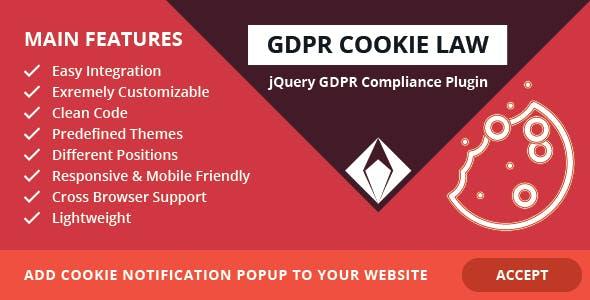 GDPR Cookie Law – jQuery GDPR Compliance Plugin