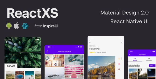 ReactXS - UIKit for Material Design 2.0 by React Native