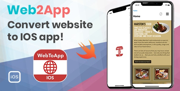 WebMobile - Web2App IOS mobile app written in Swift 4 Xcode - CodeCanyon Item for Sale