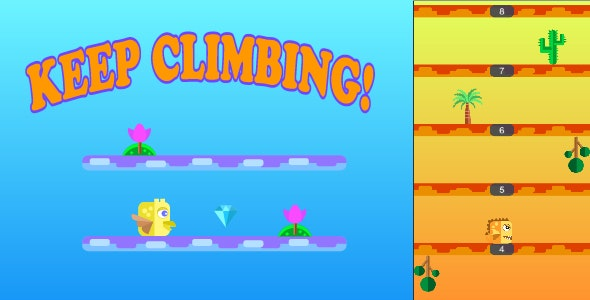 Keep Climbing Android Game - CodeCanyon Item for Sale