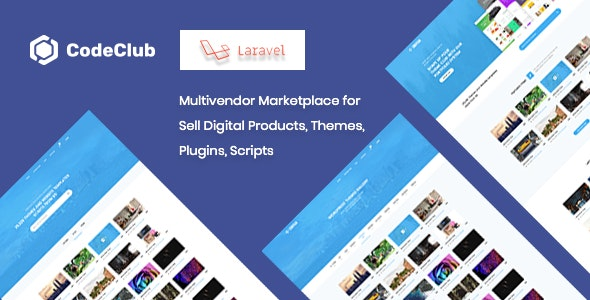 Codeclub - Multivendor Marketplace for Sell Digital Products, Themes, Plugins, Scripts - CodeCanyon Item for Sale