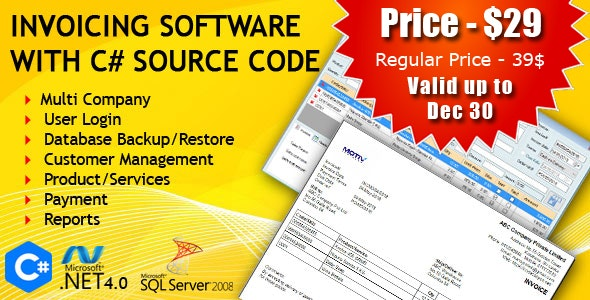 Invoicing Software with C# Source Code - CodeCanyon Item for Sale