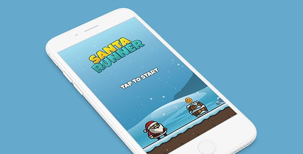 SANTA RUNNER WITH ADMOB - ANDROID STUDIO & ECLIPSE FILE
