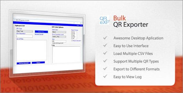 Bulk QR Exporter
