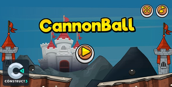 CannonBall - HTML5 Game (Construct 3) - CodeCanyon Item for Sale