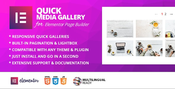 Quick Gallery Addon for Elementor Page Builder - CodeCanyon Item for Sale