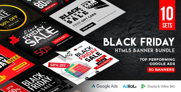 Black Friday HTML5 Banner Bundle- 80 Banners