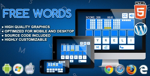 Free Words - HTML5 Word Game