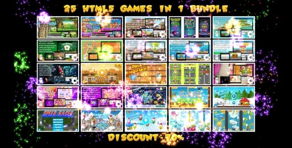 25 HTML5 GAMES BUNDLE №2 (Construct 3 | Construct 2 | Capx)