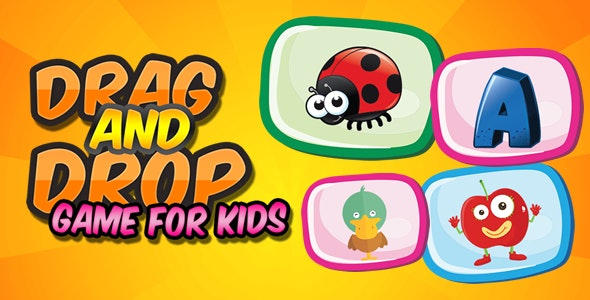 Drag and Drop Game for Kids - CodeCanyon Item for Sale