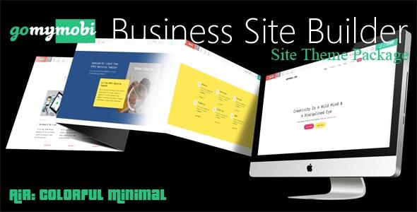 gomymobiBSB's Site Theme: Air - Colorful Minimal - CodeCanyon Item for Sale