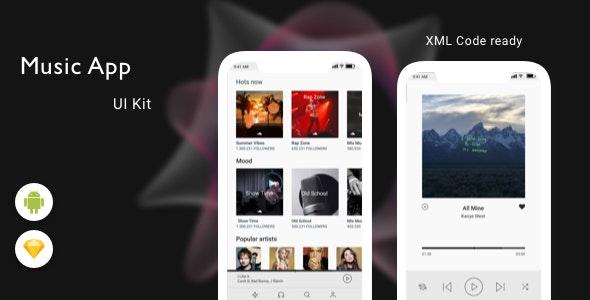 Music App UI KIT - CodeCanyon Item for Sale