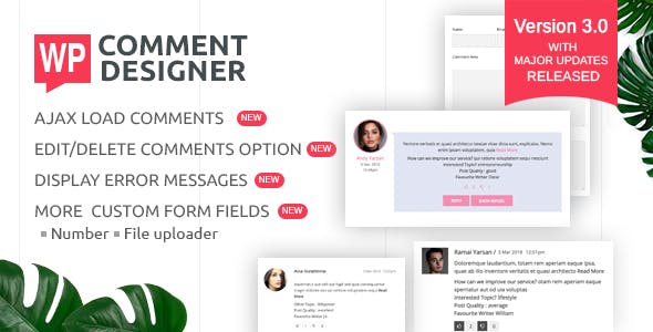 WP Comment Designer- Customize And Design WordPress Comments And Comment Form