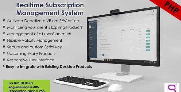 Realtime Subscription Management System for VB.Net Application