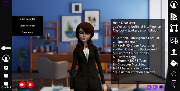 AnimStorm 2.0 Chatbot & Spokesperson - CodeCanyon Item for Sale