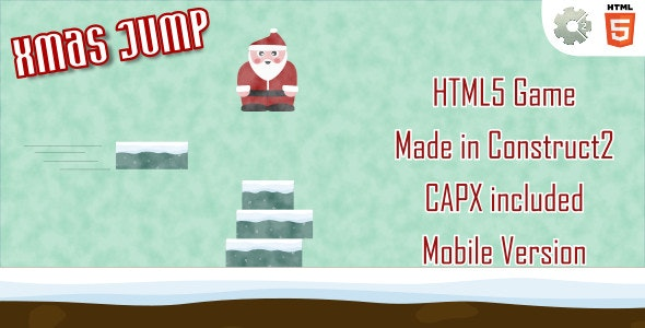 xmasJump - HTML5 Casual Game (+ mobile version) - CodeCanyon Item for Sale
