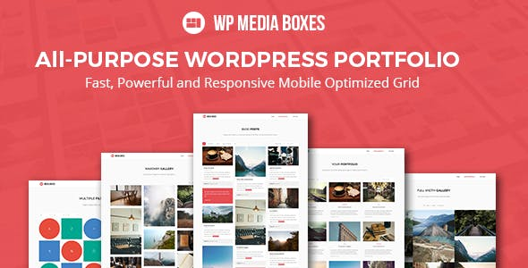 WP Media Boxes Portfolio - Responsive Wordpress Grid Plugin