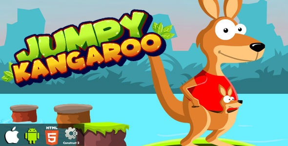 Jumpy Kangaroo - HTML5 Game (CAPX) - CodeCanyon Item for Sale