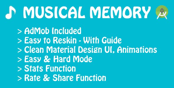 Musical Memory - Game with AdMob & Video Guides!