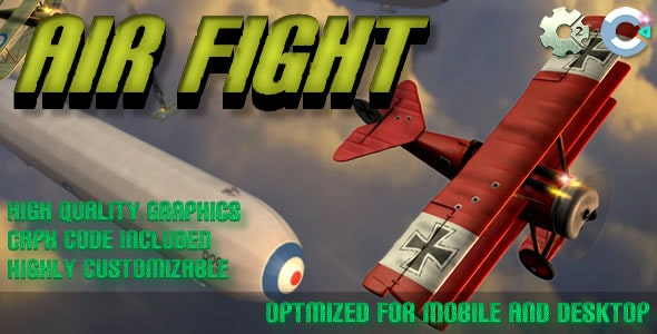 Air Fight - (C2, C3, HTML5) Game - CodeCanyon Item for Sale