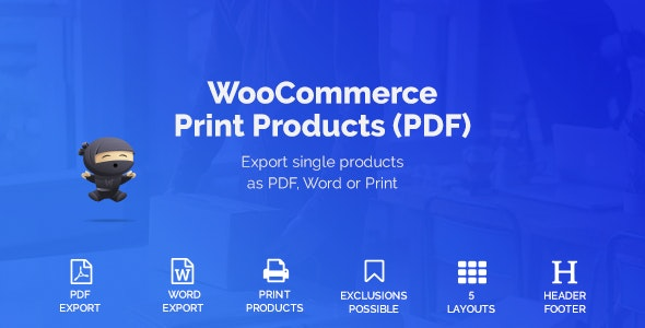 WooCommerce Print Products (PDF) - CodeCanyon Item for Sale