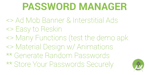 Password Manager & Generator (AdMob Banners & Interstitials)   Video Guides! - CodeCanyon Item for Sale