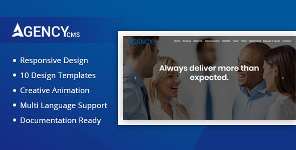 Agency CMS -  Agency, Business, Consultancy Website CMS