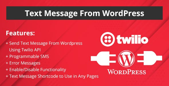 Text Message from WordPress Website