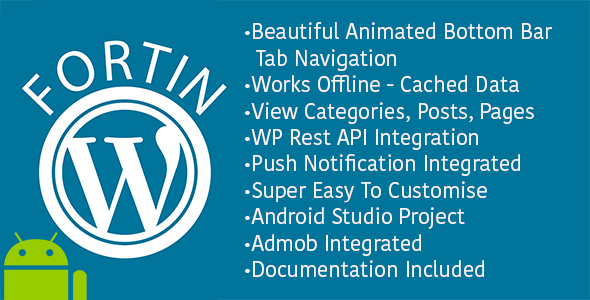 Fortin Wordpress Application Android - CodeCanyon Item for Sale