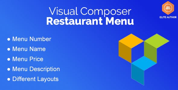 Restaurant Menu for Visual Composer