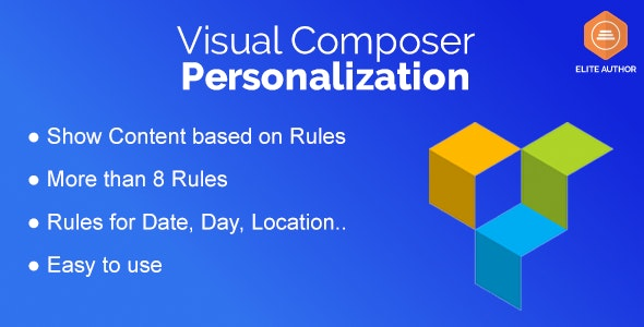 Personalization for Visual Composer - CodeCanyon Item for Sale