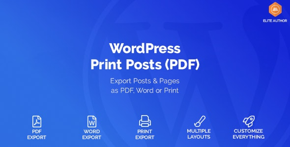 WordPress Print Posts & Pages (PDF) - CodeCanyon Item for Sale