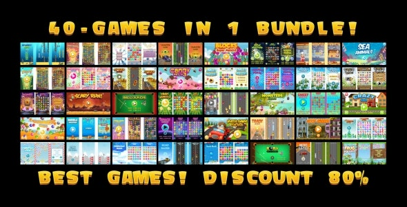 40 HTML5 GAMES IN 1 SUPER BUNDLE!!! (Construct 3 | Construct 2 | Capx) - CodeCanyon Item for Sale