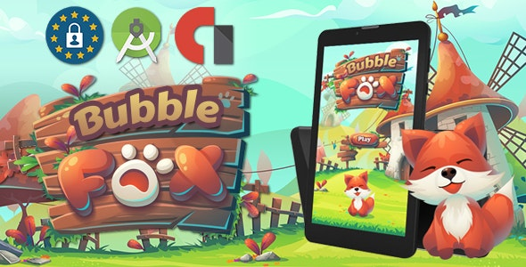 Bubble Fox Shooter ( Android Stutoi + admob Banner & interstitiel ) - CodeCanyon Item for Sale