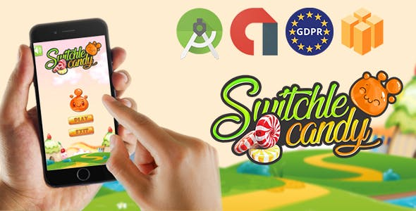 switchle candy - Admob Banner & Interstitial (Android Studio Project +GDPR )