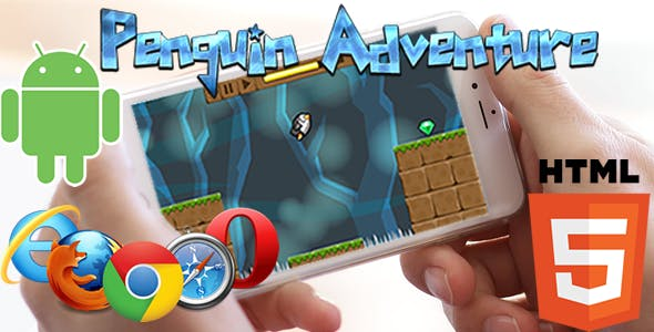 Penguin Adventure HTML5 Game (CAPX)