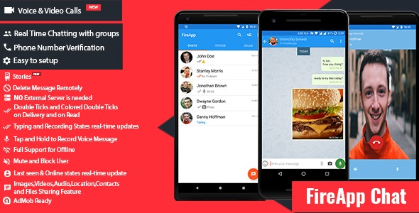 FireApp Chat - Android Chatting App with Groups Inspired by