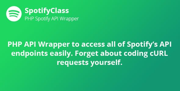 SpotifyClass - PHP Spotify API Wrapper