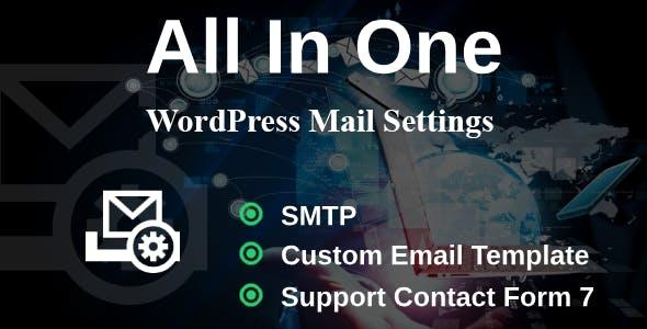 WP Mail Settings - Missing WordPress Settings