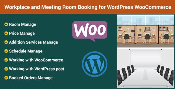 Workplace and Meeting Room Booking for Wordpress WooCommerce
