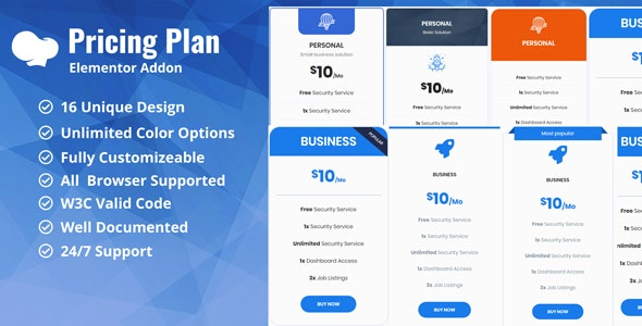 Pricing Plan / Pricing Table WpBakery Addon Plugin - CodeCanyon Item for Sale