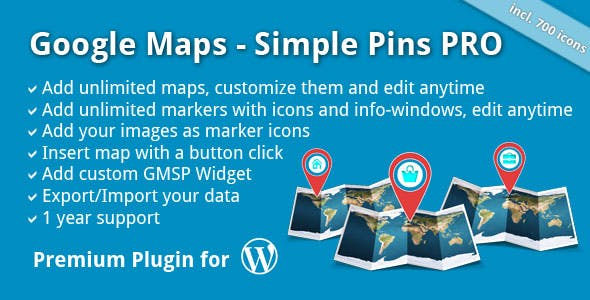 Google Maps - Simple Pins PRO