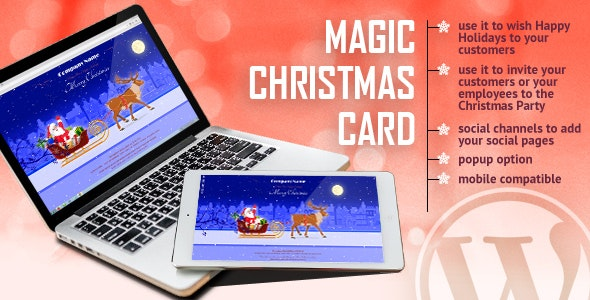 Magic Christmas Card With Animation - WordPress Plugin - CodeCanyon Item for Sale