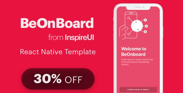 BeOnboard - complete onboarding template for React Native app (Expo version)