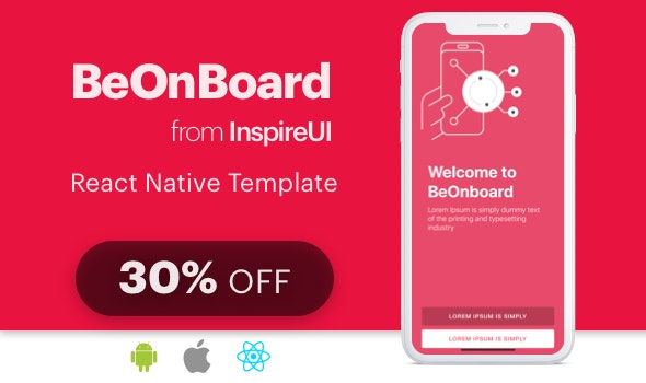 BeOnboard - complete onboarding template for React Native