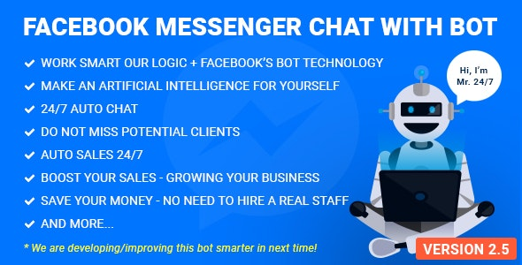 Facebook Messenger Chat with Bot - CodeCanyon Item for Sale