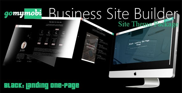 gomymobiBSB's Site Theme: Black - Landing One-Page
