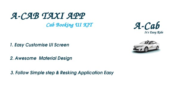 Make A Cab App With Mobile App Templates from CodeCanyon